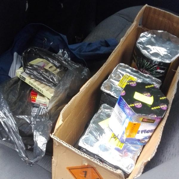 Materiale pirotehnice confiscate de poliţiştii de frontieră gălăţeni