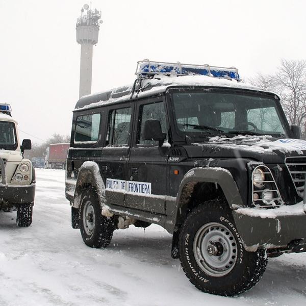 În punctele de trecere ale frontierei de la granița cu Bulgaria circulaţia se desfăşoară în condiţii de iarnă