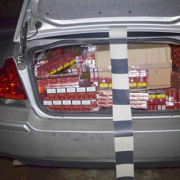 Ţigări confiscate la frontiera de nord
