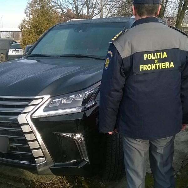Lexus în valoare de 160.000 euro, căutat în Rusia și depistat la Petea