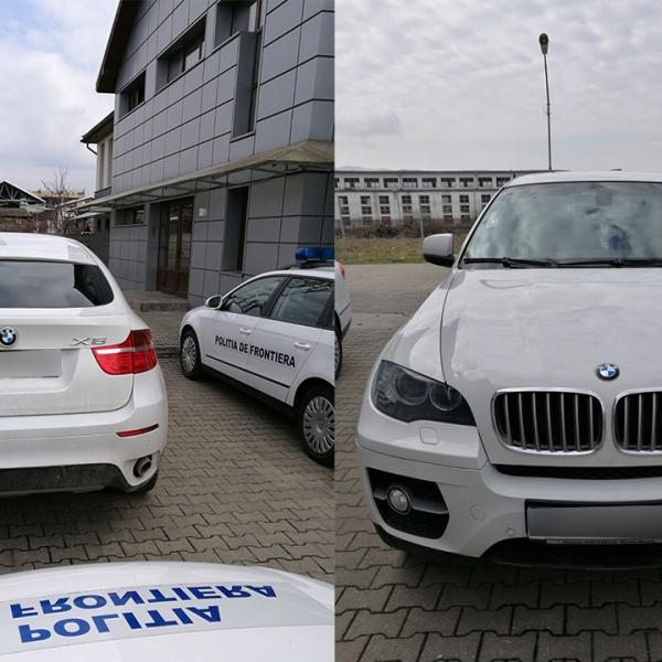 BMW X6 furat din Italia, descoperit la S.P.F. Negreşti