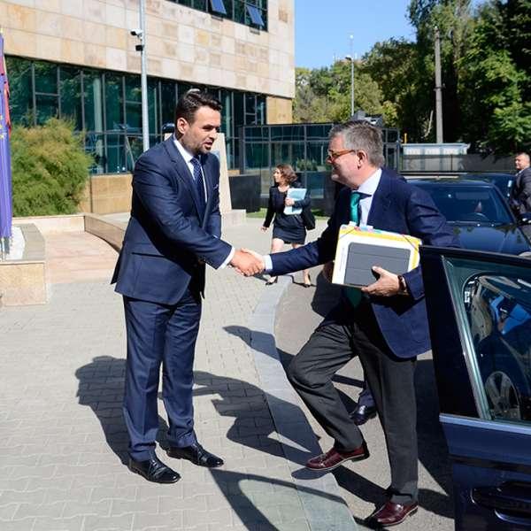 Întâlnirea Secretarului de Stat, Daniel Robert Marin, cu domnul Julian King, Comisar European responsabil pentru Securitatea Uniunii