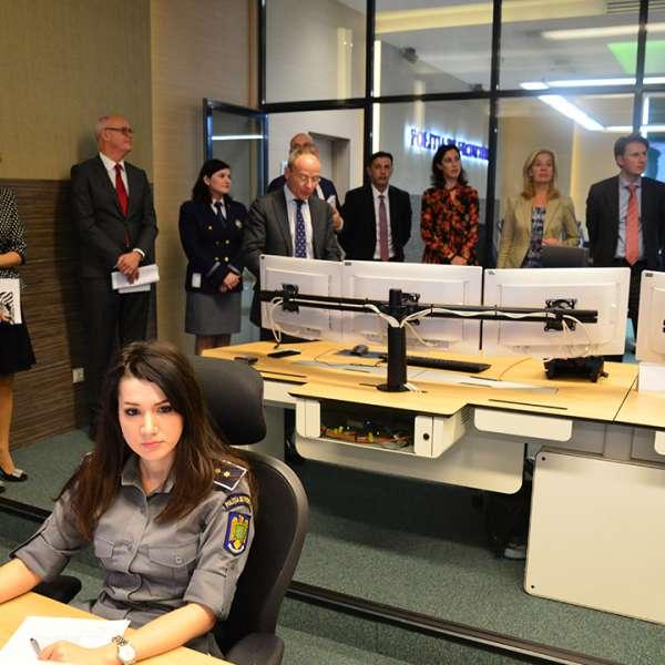Vizită a ambasadorului Olandei la Centrul de Comandă şi Control al Poliţiei de Frontieră Române