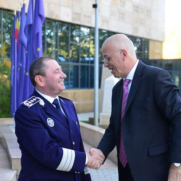Ambasadorul Germaniei la Bucureşti, în vizită la Poliţia de Frontieră Română
