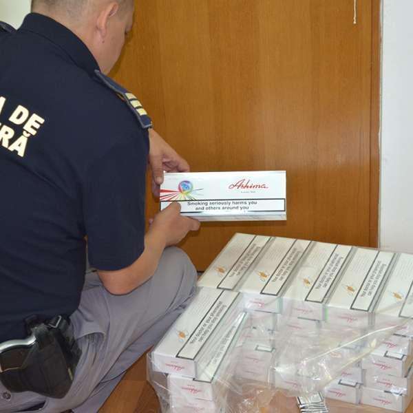 Ţigari confiscate de către poliţiştii de frontiera severineni