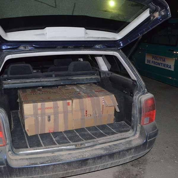 Focuri de armă pentru oprirea contrabandiștilor și peste 16.000 pachete cu ţigări confiscate de poliţiştii de frontieră