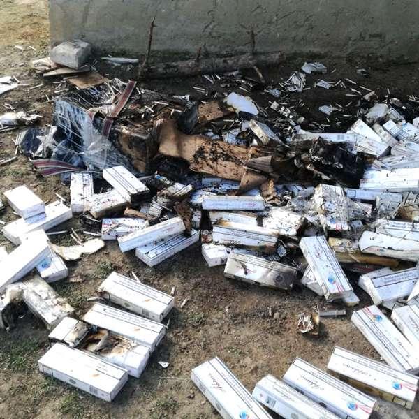 Un botoșănean a fost prins de polițiștii de frontieră în timp ce incendia țigări de contrabandă