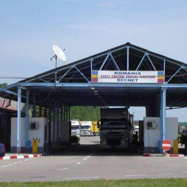 Trafic restricţionat prin P.T.F. Bechet pentru autovehiculele de transport marfă