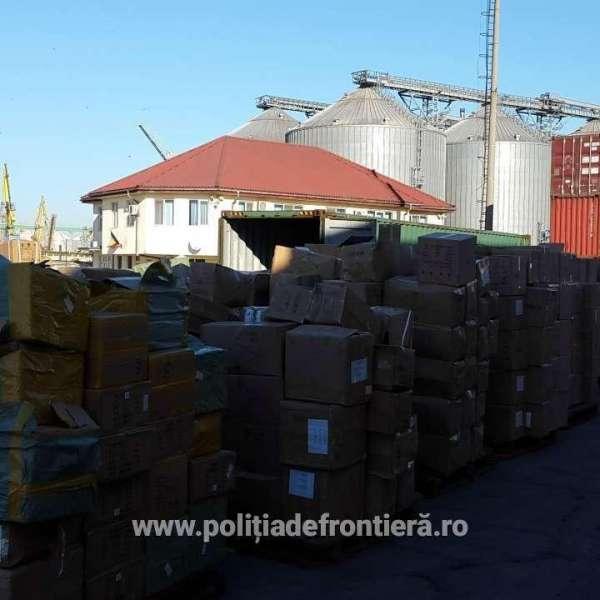Articole contrafăcute, în valoare de aproximativ 2.800.000 lei,confiscate în Portul Constanţa Sud Agigea