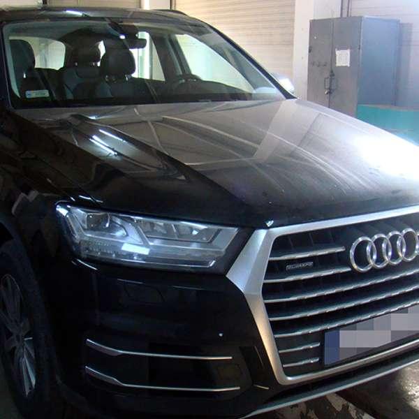 Autoturism Audi Q7, căutat de autoritățile din Polonia, descoperit în P.T.F. Siret