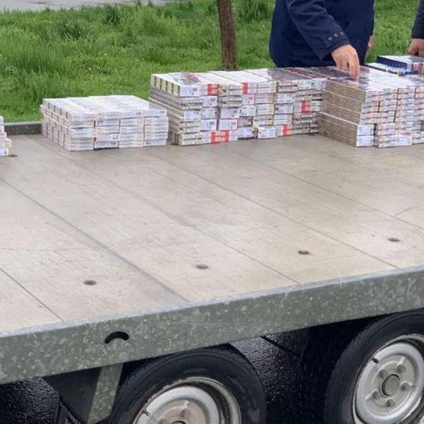 Peste 1.400 de pachete cu ţigări, descoperite la P.T.F. Giurgiu