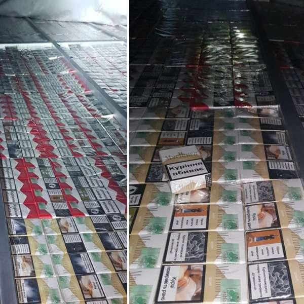20.000 de pachete cu ţigări de contrabandă, descoperite ascunse într-o autoutilitară la P.T.F. Borș