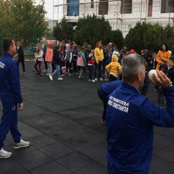 A.C.S. Frontiera Tomis Constanța a promovat sportul național  în școlile constănțene
