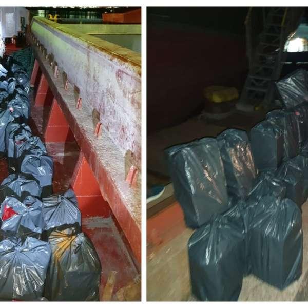Peste 10.400 de pachete cu țigări de contrabandă,descoperite de polițiștii de frontieră în Portul Midia