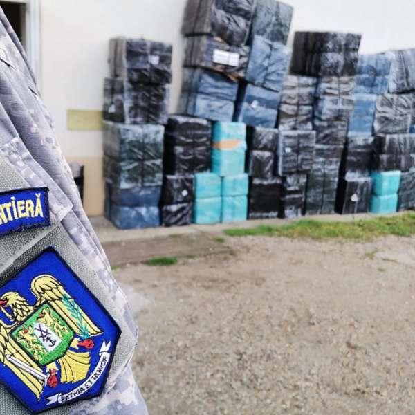Peste 58.000 de pachete cu țigări de contrabandă, confiscate la frontiera de nord a României