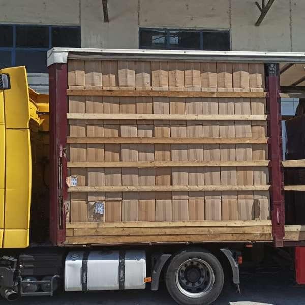 CAPTURĂ DE ŢIGĂRI RECORD ÎN ACEST AN:  162.500 pachete cu țigări,  ascunse într-un camion la Punctul de Trecere a Frontierei Bechet