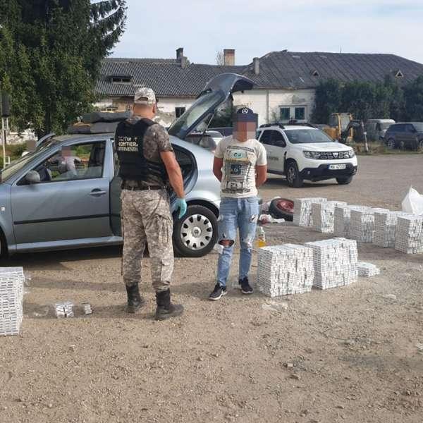 Mașină cu țigări oprită în trafic de polițiștii de frontieră maramureșeni