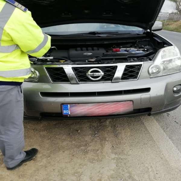 Autoturism cu număr de înmatriculare fals,descoperit în trafic de polițiștii de frontieră gălățeni