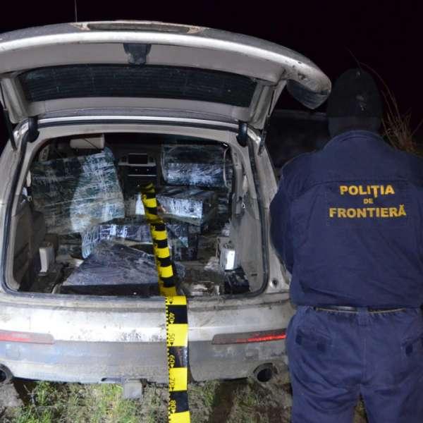 Ţigări de contrabandă de peste 266.000 lei,reţinute cu focuri de armă la frontiera de est