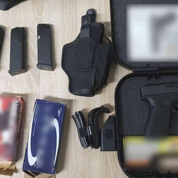 Un pistol cu muniţia aferentă descoperit într-un container, în Portul Constanţa Sud Agigea