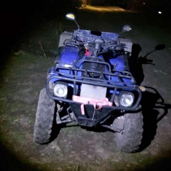 ATV neînregistrat, condus de un tânăr pieton, descoperit în trafic
