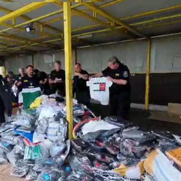 Bunuri susceptibile a fi contrafăcute în valoare de un milion de euro,confiscate de poliţiştii de frontieră din cadrul Gărzii de Coastă