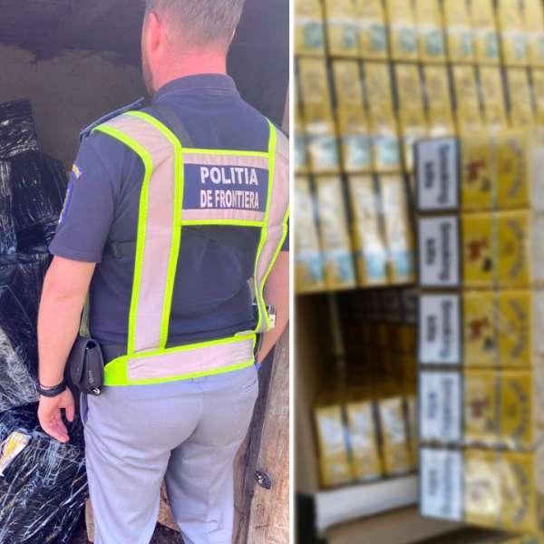 41.000 de pachete cu țigări confiscate și trei cetățeni români cercetați pentru contrabandă, la frontiera de nord a României