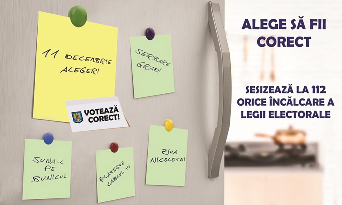 Alege să fii corect, sesizează la 112 orice încălcare a legii electorale
